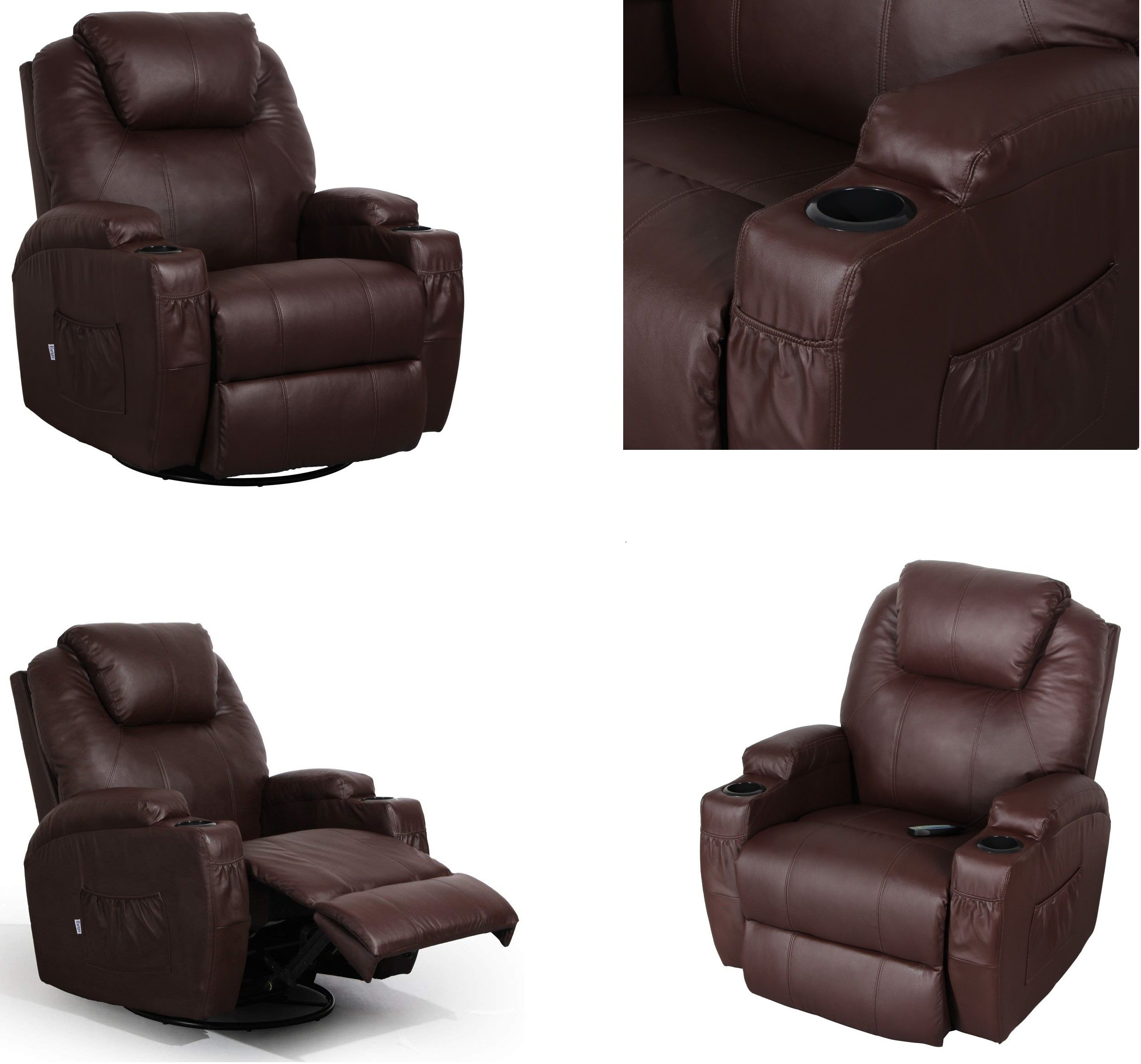 Cool Details About Massage Therapy Lazy Boy Leather Recliner Chair Heat Club Seat Rocker 360 Swive Gmtry Best Dining Table And Chair Ideas Images Gmtryco