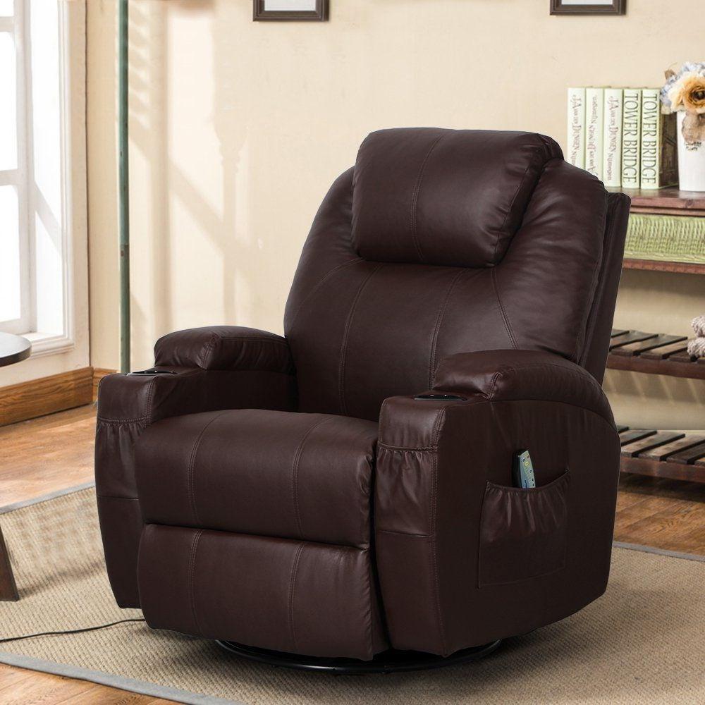 Superb Details About Massage Therapy Lazy Boy Leather Recliner Chair Heat Club Seat Rocker 360 Swive Inzonedesignstudio Interior Chair Design Inzonedesignstudiocom