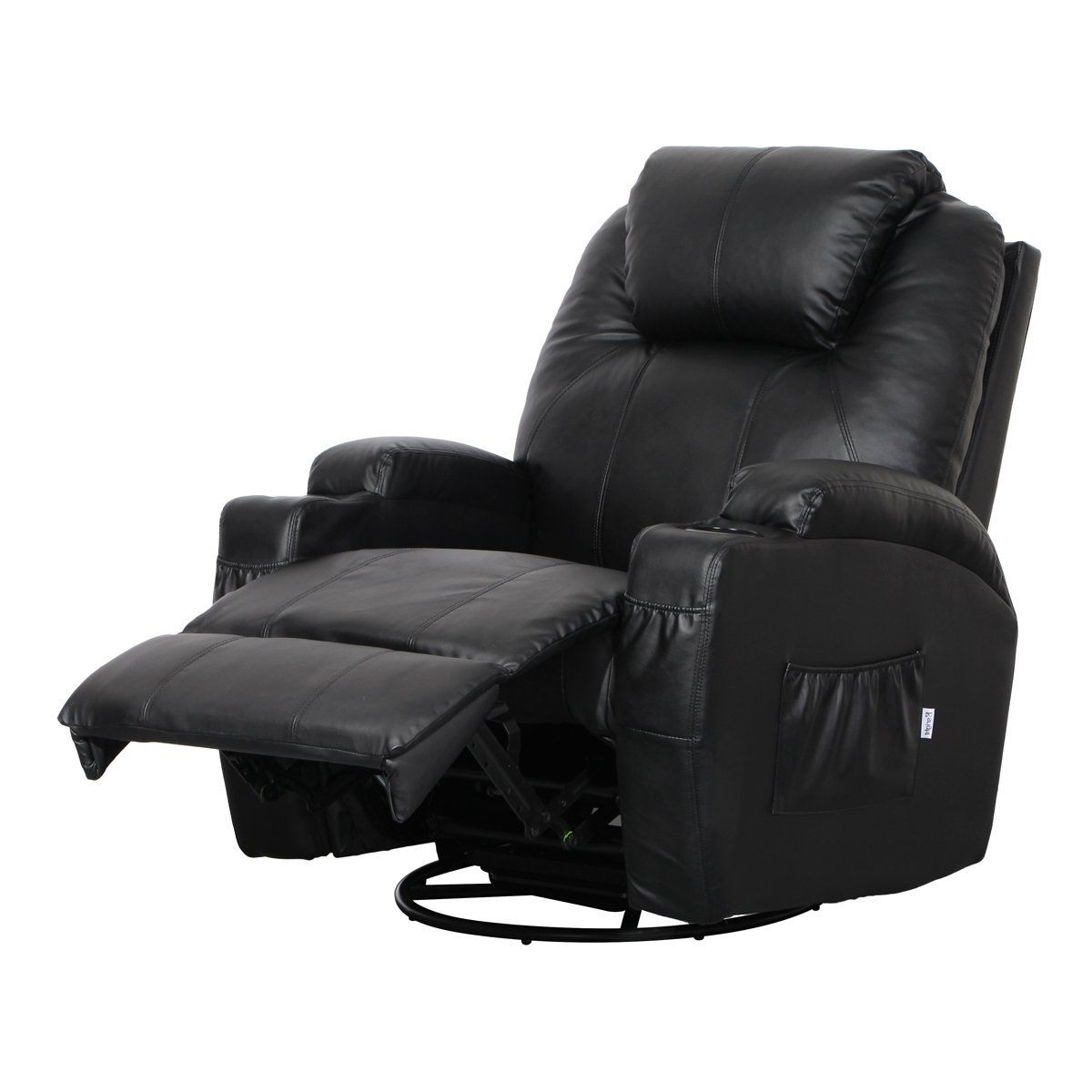 Details About Massage Therapy Lazy Boy Leather Recliner Chair Heat Club Seat Rocker 360 Swive