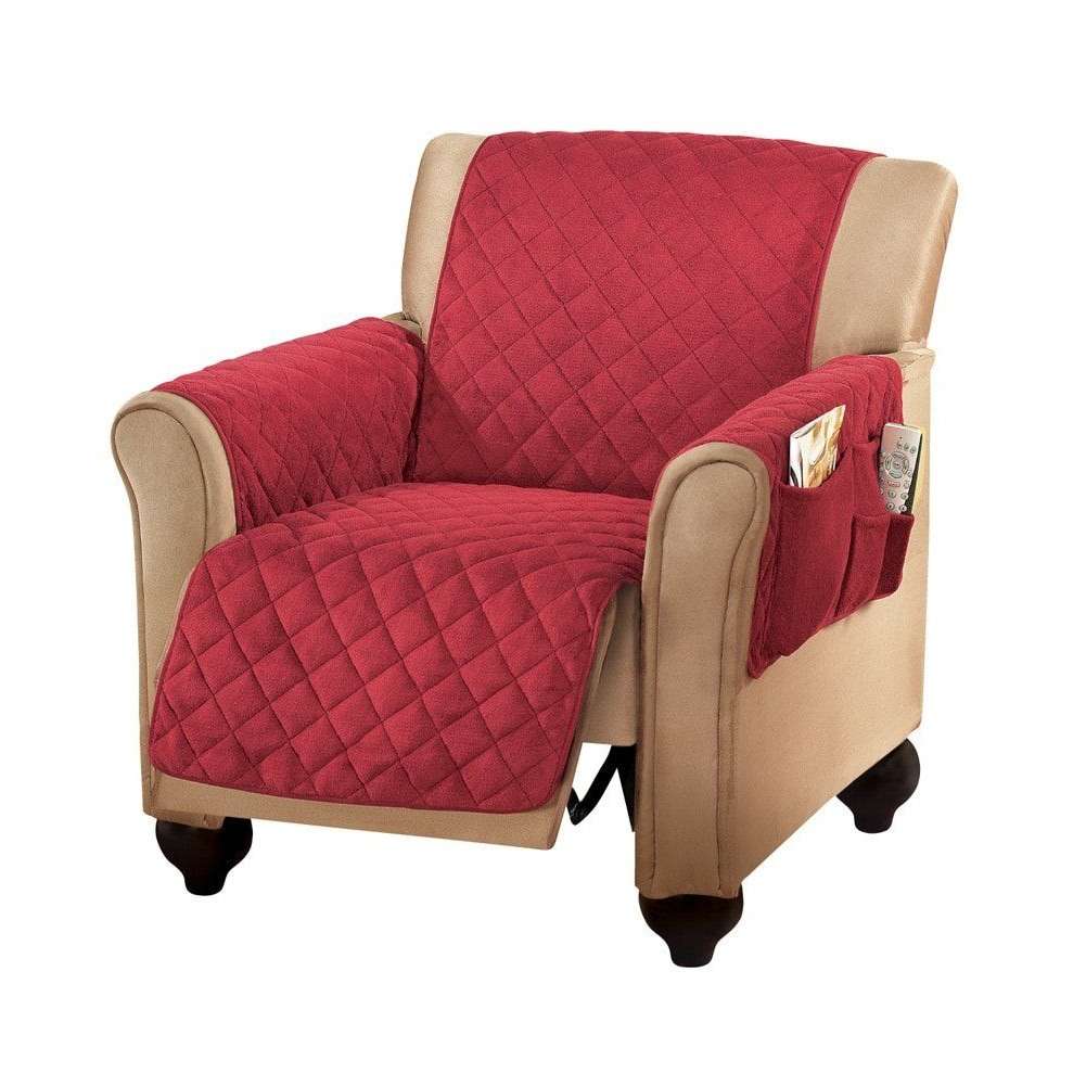 Sensational Details About Recliner Arm Chair Cover With Side Pockets Lazy Boy Furniture Protector Burgundy Spiritservingveterans Wood Chair Design Ideas Spiritservingveteransorg